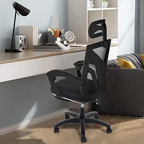 【US in Stock 7 Days Delivery】 Computer Chair Gaming Chair Racing Style Office Chair Adjustable Swivel Rocker Recliner High Back Ergonomic Computer Desk Chair with Footrest (1pc, Black) 41S9wpIpviL