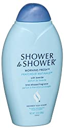 Shower to Shower Absorbent Body Powder, Morning Fresh with Lavender, 13-Ounce Bottles (Pack of 4)