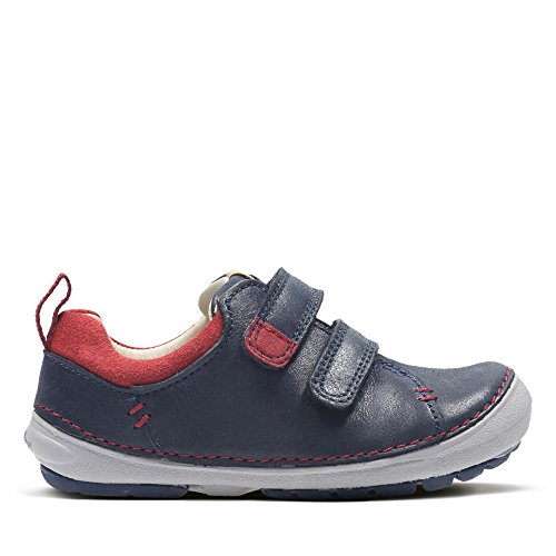 Clarks Softly Toby Fst Boys First Shoes 7.5 Navy