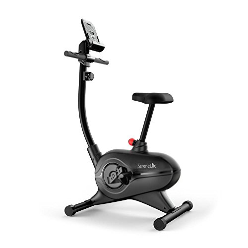 Cheap SereneLife Exercise Bike – Upright Stationary Bicycle Cardio Cycle Pedal Trainer Fitness Machine Equipment with Digital Console for Workout, Weight Loss, Fitness & Health at Home & Office(SLXB7)