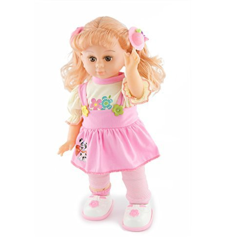 Meiyie-16-inch-Mobile-Control-SingStorytellingWalkingDancing-Interactive-Girl-Talk-with-Me-Barbie-Play-DollClothes-May-Vary