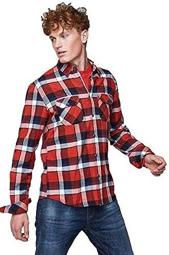 GAS Camisa Pirro 0080 Roja Vaquera de Hombre Large Rojo: Amazon.es: Ropa y accesorios