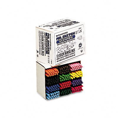 Sanford Mr. Sketch Scented Stix 12 Color School Pack, .8Mm Fine Tip (SAN3618) Category: Art Markers
