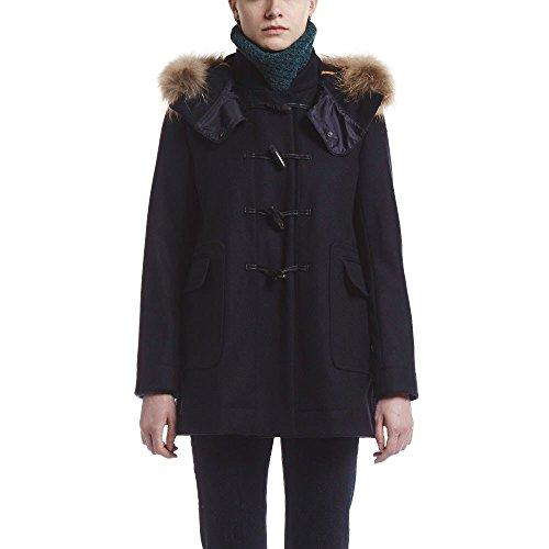Navy dark Coat Clan Manches Longues Bleu Femme Aigle Duffle 8UCpxq