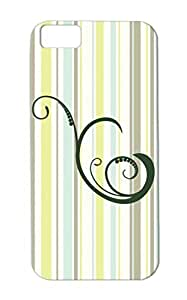 Swirl5armygreen Black For Iphone 5c Symbols Shapes Miscellaneous Swirl Case Cover