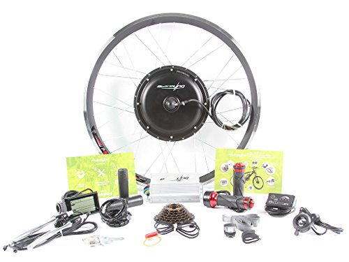 EBIKELING 36V 500W Direct Drive Motor Front Rear Wheel 26″ 700C e-Bike Conversion Kit Electric Bicycle (26″, Front/Twist/LED)