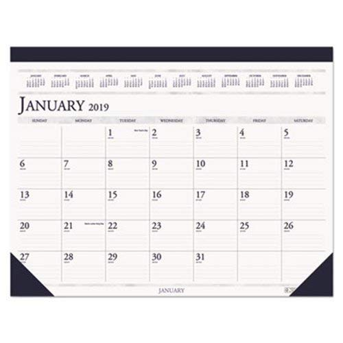 House of Doolittle 2019 Monthly Desk Pad Calendar, Classic, 18.5 x 13 Inches, January - December (HOD1506-19)