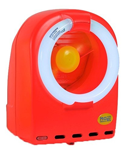 Moel Fluo Insektenvernichter 368 erhältlich in Neonrot oder Neongrün mit 230V-50Hz, Farbe:Rot