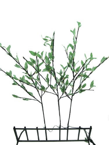 Hi-Line Gift Ltd 37383-96 96 Liter Floral Lights Willow Branch with Leaves AC Min and Up, (Willow Branch 96 Lights)