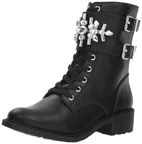 Circus by Sam Edelman Women's Dakota Combat Boot, Black/Jeweled StrapWaxy, 7 M US (Circus By Sam Edelman Lace Up Boot)