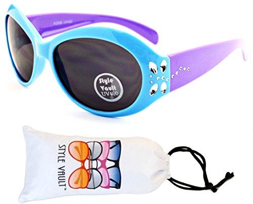 Kd220-vp 9 month~4 year old toddler Kids girls Oversize Sunglasses (U2790S Blue/Purple, - Sunglasses Round Trend 2017