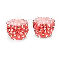 Patisse Paper Cupcake Cases Set, Red Polka Dots