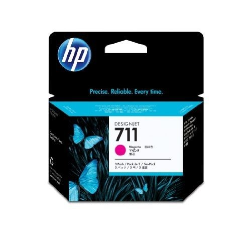 HP CZ135A (711) Inkcartridge magenta, 29ml, Pack qty 3