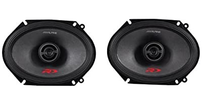 Alpine SPR-68 Type-R 6X8 Inch 2-Way Car Speakers