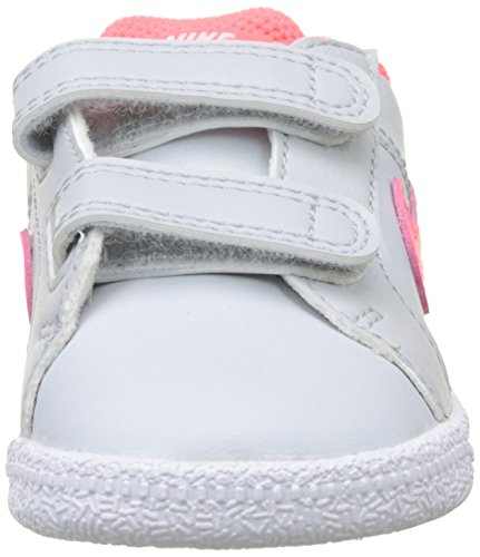 Nike Mädchen Court Royale (Td) Sneaker Mehrfarbig (Pure Platinum/hot Punch/white)