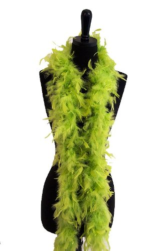 (WGI 6' 60g Adult Feather Boa, Lime)