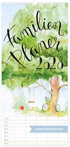 Familienplaner 2020 Kalender mit 5 Spalten XXL, Jahresplaner, Wandkalender für Familien 2020, zum Aufhängen Hochkant