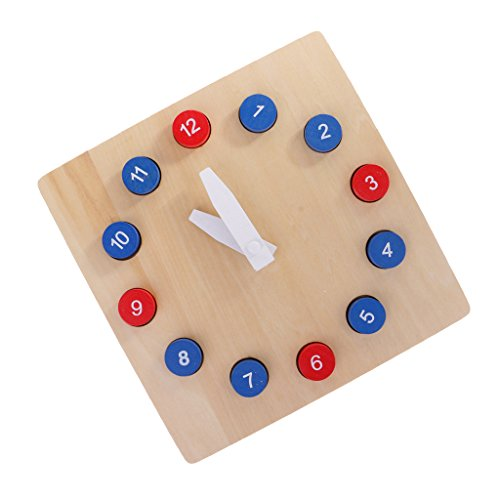 Fityle Kids Wooden Time Teaching Cloth Early Learning Developmental Toy by Fityle (Image #9)