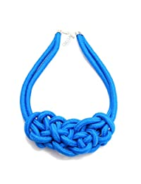 Eyourlife Multicolor Handmade Knit Woven Fluorescent Color Cotton Rope Necklace Pendant