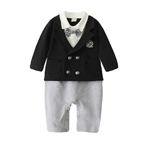 Noeud Barboteuse Noir Bébé Combinaison Mode Avec Garçon Costume Acvip Papillon xqXHvz0ww