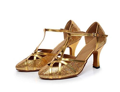 De Cuir Chacha Danse Jazz Samba Danse Chaussures Latin Moderne 5 En heeled10cm Femmes EU34 De UK3 JSHOE Chaussures Our35 Gold qRx0EOXw