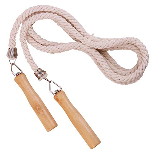 Seatechlogy Jumping Rope Cotton and Linen Wooden Handle, 3 m, for Children and School Game Gymnasia Workouts by Seatechlogy