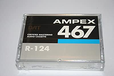Quantegy Ampex 467 R-124 Certified Mastering Audio Tape Cassette DAT 4mm Audio 124 minutes from Quantegy