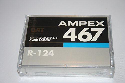 Quantegy Ampex 467 R-124 Certified Mastering Audio Tape Cassette DAT 4mm Audio 124 (Ampex Tape)