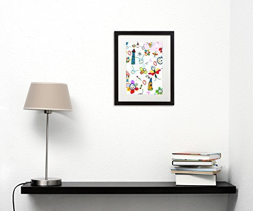 Kids Artwork Frame 11x14 Inch Black Picture Frame Made