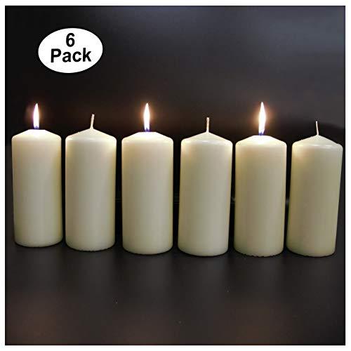 (CandleNScent Ivory Pillar Candles - 3