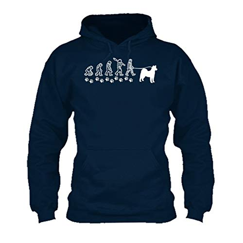 Akita Evolution Hooded Sweatshirt, Long Sleeve Hoodie (L,Navy) ()