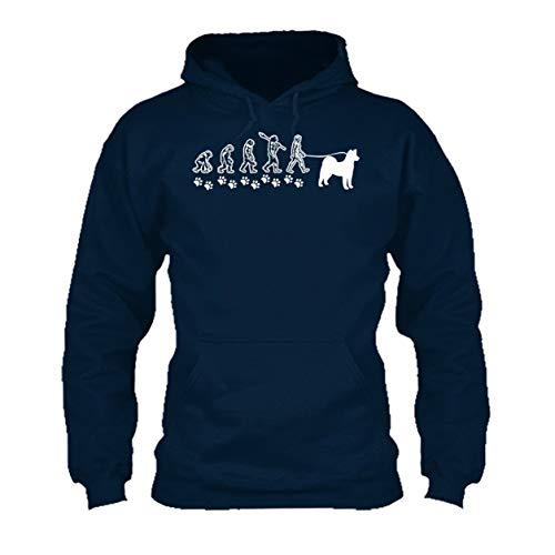Akita Evolution Hooded Sweatshirt, Long Sleeve Hoodie (L,Navy) ()
