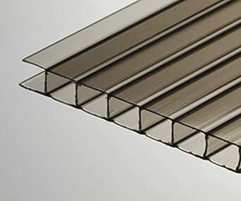 PAC de 2 hojas de bronce de policarbonato de 2 pies x 4 pies x 8 ...