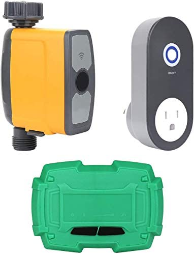 Schlauchhahn-Timer mit Bodentest, Wi-Fi-Fernbedienung Programmierbarer Wassertimer-Bewässerungssystem-Controller Echtzeit-Temperatur und Luftfeuchtigkeit