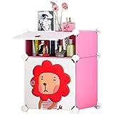 Cubic Accessories Box, Pink & White - H 54 cm x W 37 cm x D 37 cm