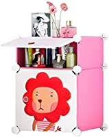 Cubic accessories box, pink and white