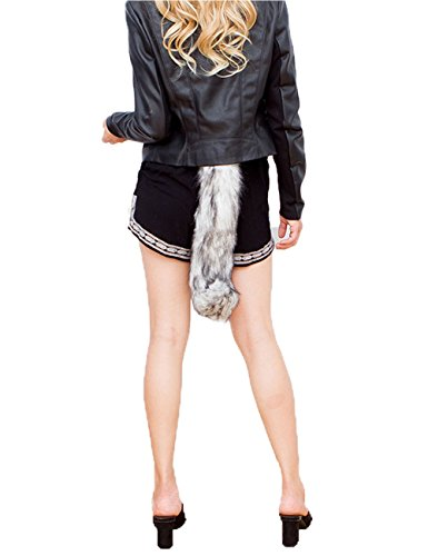 Wolf Tail And Ears Costume (DRESHOW Faux Fur Fox Tail Costume Halloween Cosplay Party)