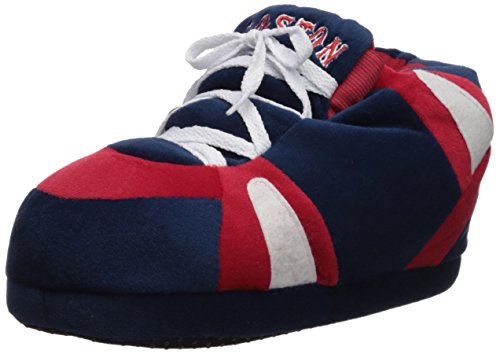 Comfy Feet Happy Feet and Mens and Womens Officially Licensed MLB Sneaker Slippers Boston Red Sox