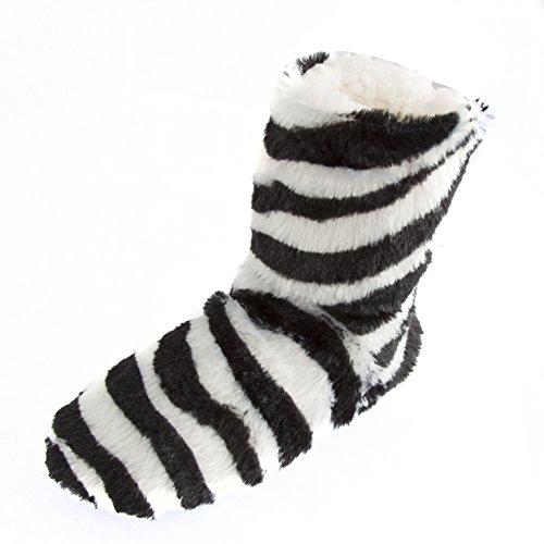 Leisureland Donna In Fleece Pantofole Comode Pantofole Bianche