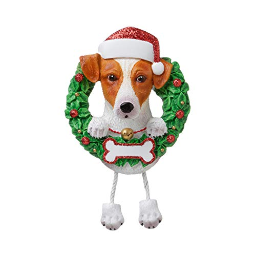 Personalized Jack Russell Terrier Christmas Tree Ornament 2019 - Fluffy Dog Dangle Paw Santa Hat Pure Love Play Parson Clever Small Social Smart Fur-Ever New Loyal Family R.i.p. - Free Customization