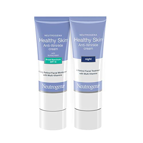Neutrogena Healthy Skin Anti-Wrinkle Retinol Face & Neck Cream Moisturizer with SPF 15, 1.4 oz & Healthy Skin Anti…