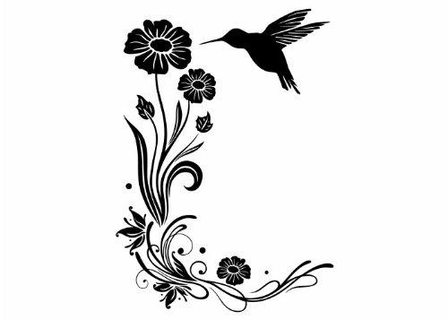 Wandtattooladen Wandtattoo - Sanfte Kolibri-Grüße 2 Größe:100x140cm Farbe: Schablone