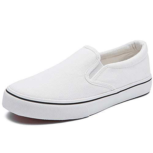 Women's Canvas Slip On Sneakers Fat Loafers Casual Shoes