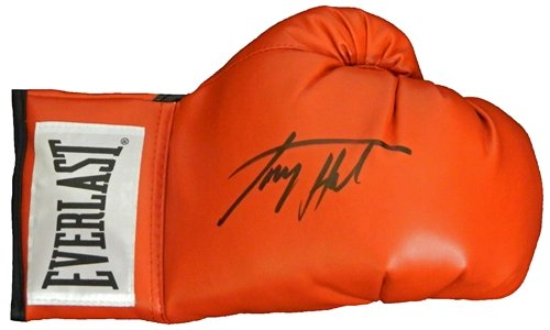 Larry Holmes Autographed/Hand Signed Everlast Red Boxing Glove