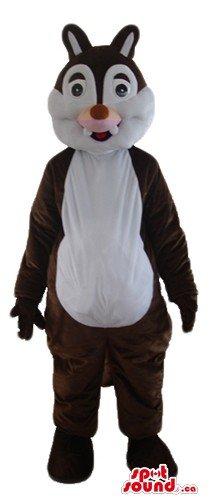 White (Brown Squirrel Costume)