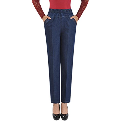 Blue Belle Zhuhaitf Stretch Straight High Classic for Slim Blue Women Light Jeans Pants Denim Trousers Plus Skinny Size Waisted Qualit 7BaaWnd