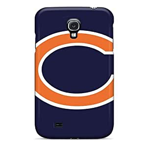 Perfect Hard Cell-phone Cases For Samsung Galaxy S4 With Support Your Personal Customized Colorful Chicago Bears Pattern MansourMurray