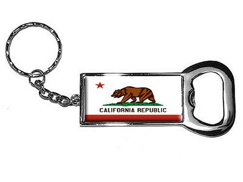 Bottle Opener Key Chain, California Flag
