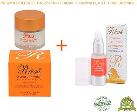 REVE pack - Crema Facial Vitamina C + Sérum Hialurónico y ...