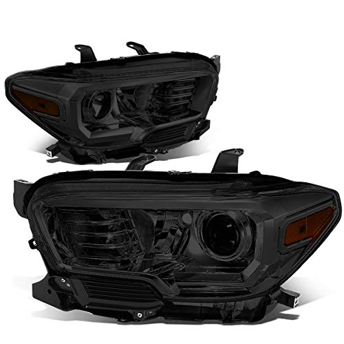 DNA Motoring Smoked amber HL-OH-TTAM16-SM-AM Pair Front Bumper Driving Projector Headlight Replacement